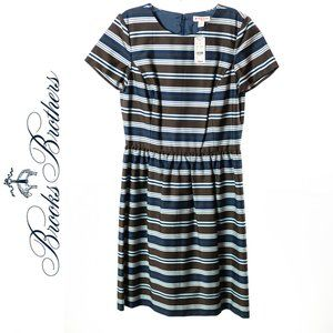Brooks Brothers Striped Dress Size 4 NEW WITH TAGS